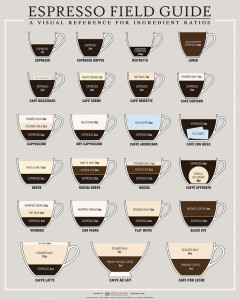 coffee espresso recipes infographic design